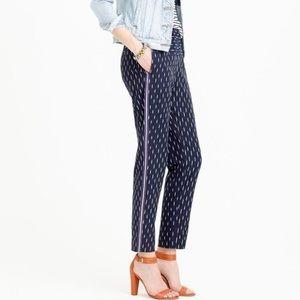 Jcrew Pull On Ikat Pant with Metallic Tux Stripe 2